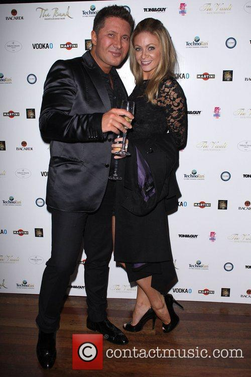 Peter Nicholas and Mercedes Gage  celebrate the...