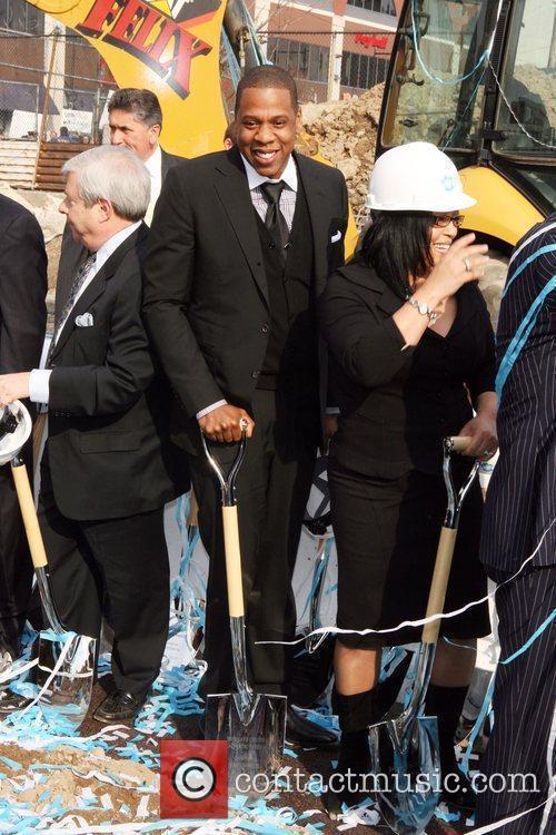 Brooklyn Borough President Marty Markowitz, Jay-Z aka Shawn...