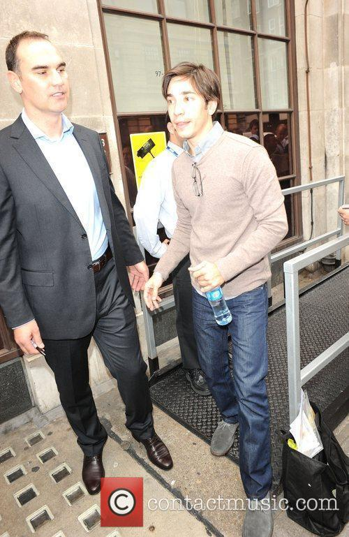 Justin Long is seen arriving at BBC Radio...