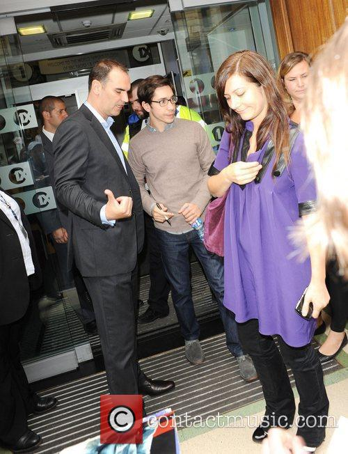 Is seen arriving at BBC Radio 1 Studios.