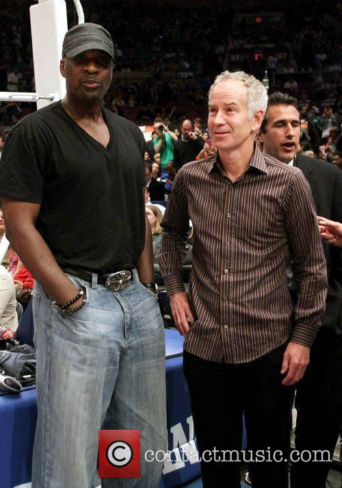 Charles Oakley and John McEnroe Celebrities at New...