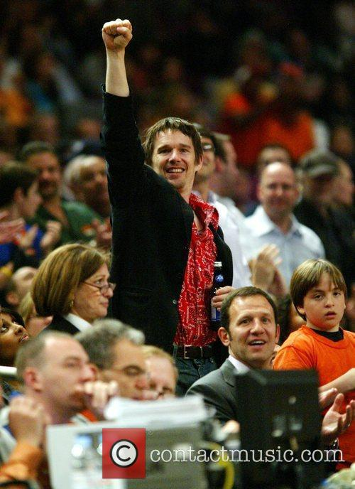 Celebrities at New York Knicks v Boston Celtics...