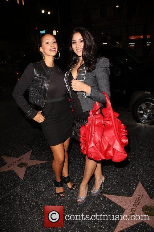Gloria Govan (L) of VH1's Basketball Wives and...