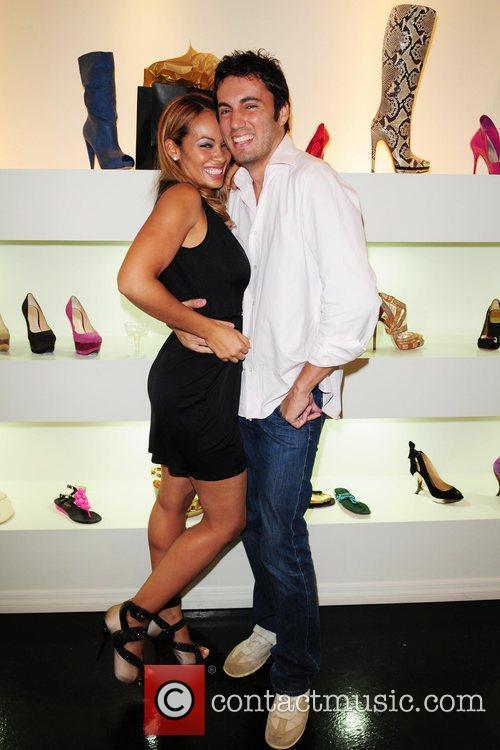 Evelyn Lozada and Fabian Basabe Dulce Shoe Boutique...