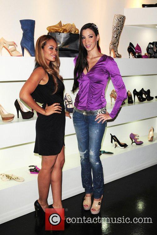 Evelyn Lozada and Suzie Ketcham Dulce Shoe Boutique...