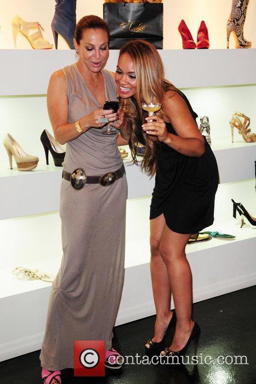Lisa Pliner and Evelyn Lozada Dulce Shoe Boutique...