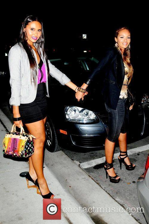 Evelyn Lozada (R) and daughter Shaniece VH1 'Basketball...