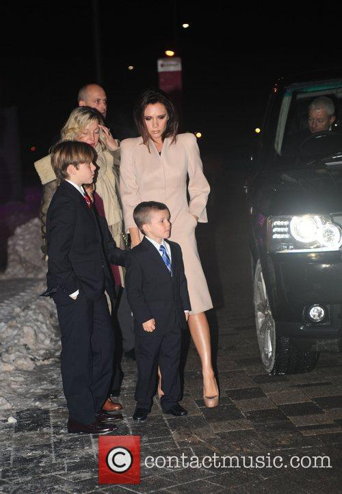 Victoria Beckham and Brooklyn 5