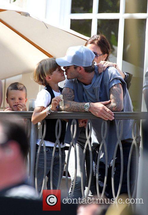 David Beckham and Jonas Brothers 2