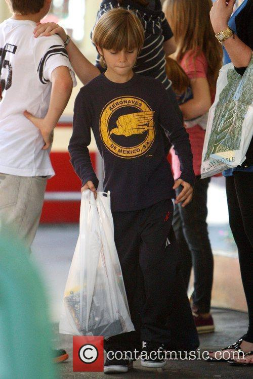 Romeo Beckham The Beckham children out shopping with...