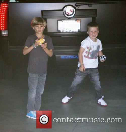 Romeo Beckham and Cruz Beckham heading out for...