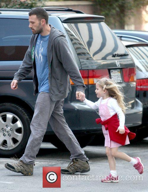 Taking his daughter, Violet Affleck, to a school...