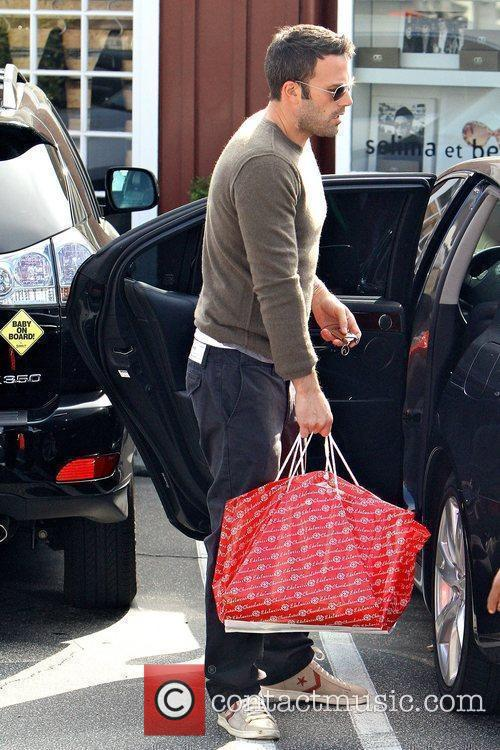 Ben Affleck shopping at the Brentwood Country Mart...