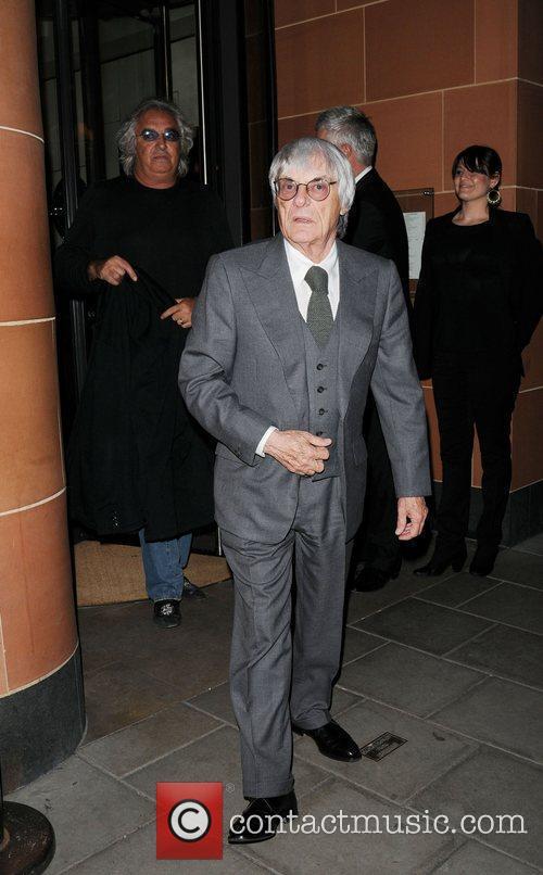 Formula One President and CEO Bernie Ecclestone leaving...