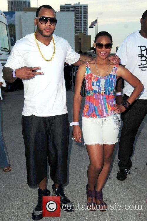 Rapper Flo Rida and Brianna  attend the...