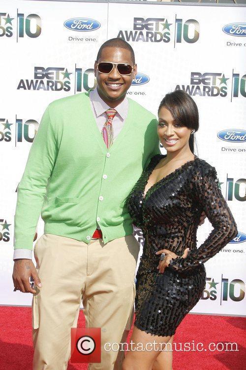 Carmelo Anthony and LaLa Vazquez 2010 BET Awards...