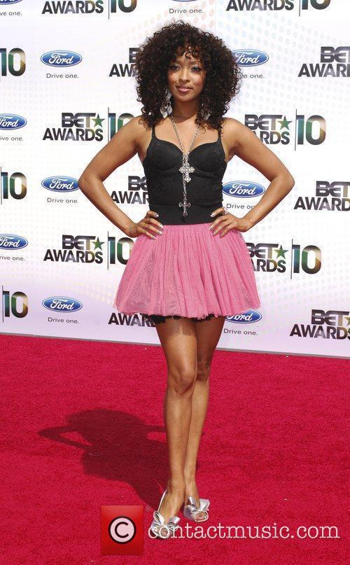 Jenna Fredrique 2010 BET Awards held at the...