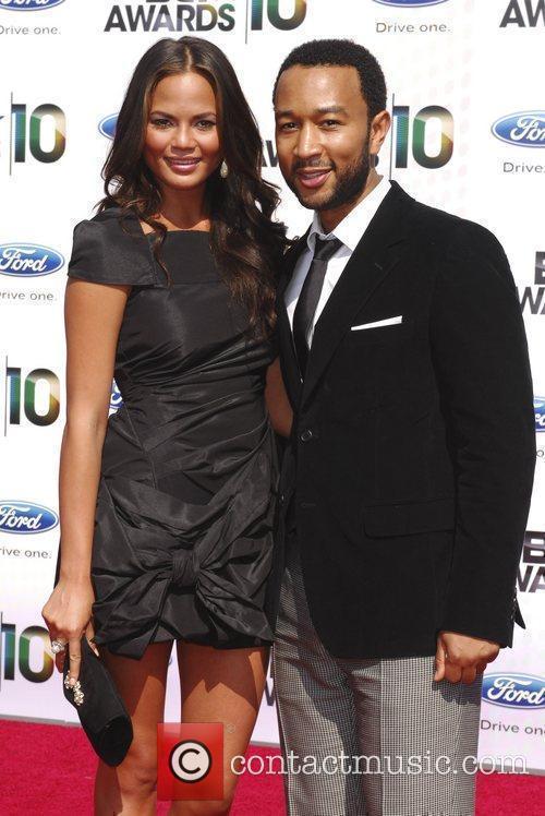 John Legend and Christine Teigen 2010 BET Awards...