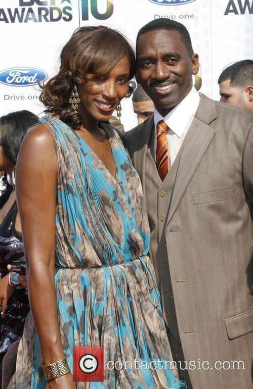 Lisa Leslie and Michael Lockwood 2010 BET Awards...