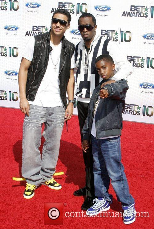 Sean P. Diddy Combs and sons 2010 BET...