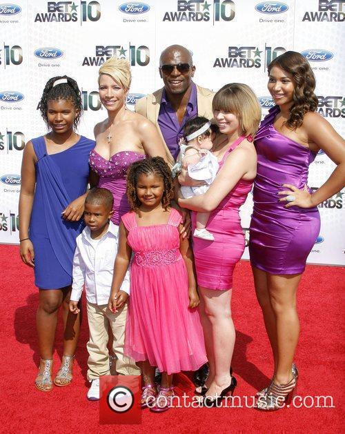 Terry Crews and family 2010 BET Awards held...