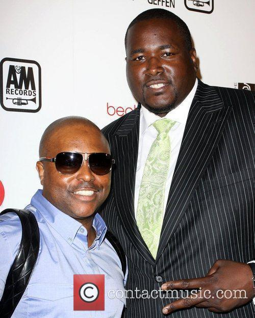 Quinton Aaron and Guest, Quinton Aaron, Celebration, Bet Awards