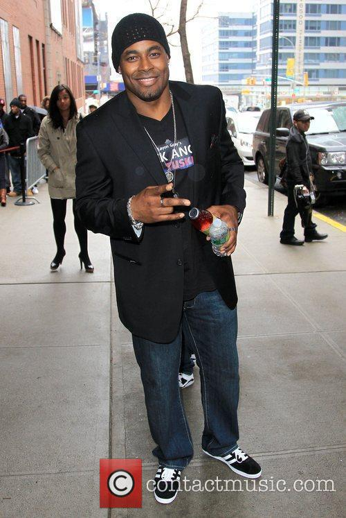 Outside BET studios after appearing on 106 &...