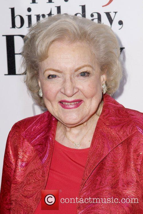 At Betty White's 89th birthday party at Le...