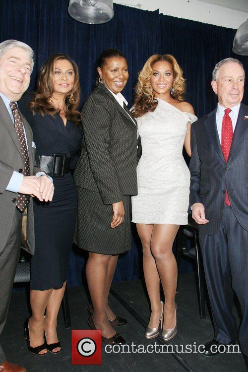 Unveiling of the Beyonce Cosmetology Center at Phoenix...