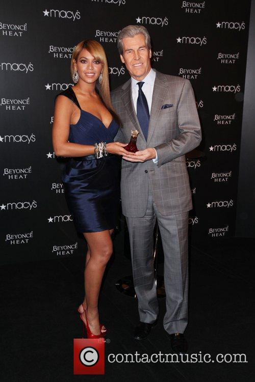 Beyonce and Macy's CEO Terry Lundgren Beyonce launches...