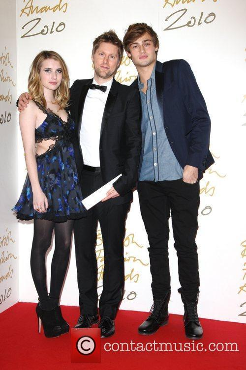 Emma Roberts, Christopher Bailey and Douglas Booth 5