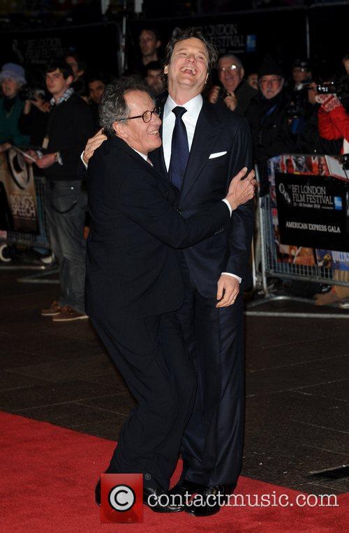Colin Firth, Geoffrey Rush The BFI London Film...