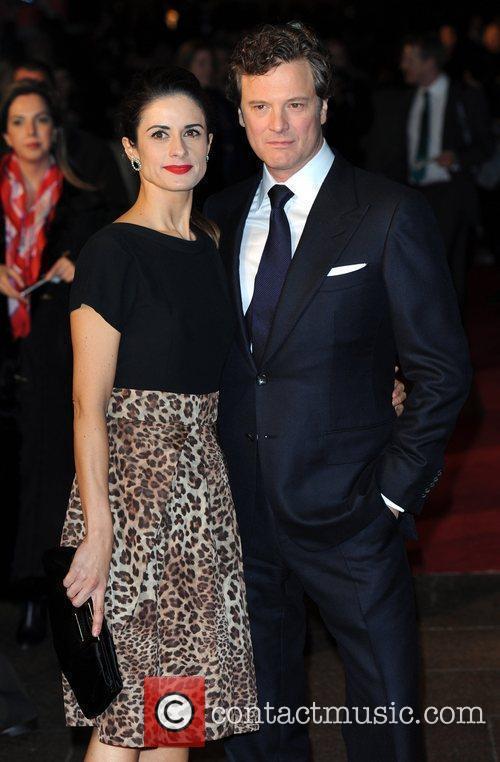 Colin Firth and wife Livia Giuggioli The BFI...