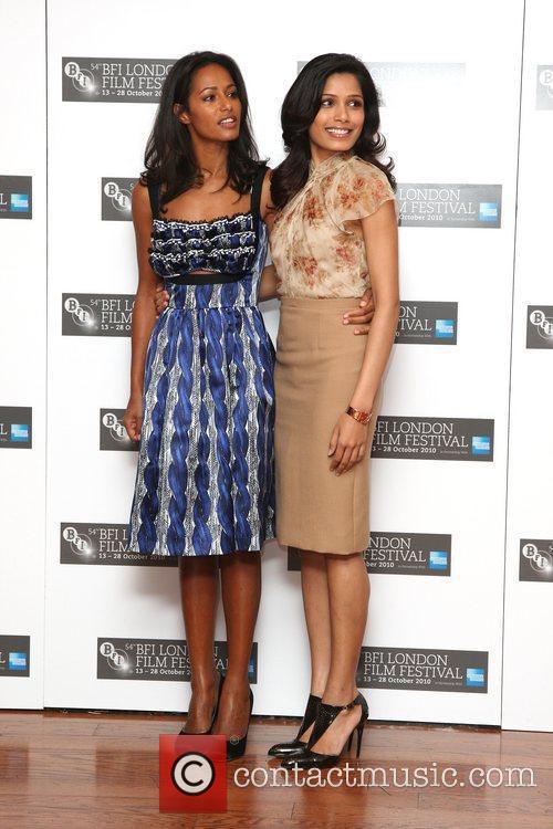 Rula Jebreal and Frieda Pinto  The 54th...