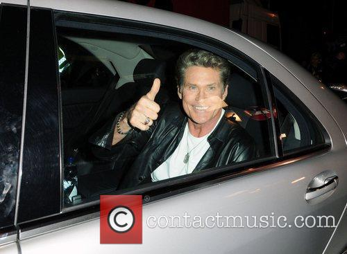 David Hasselhoff returns to his hotel after judging...