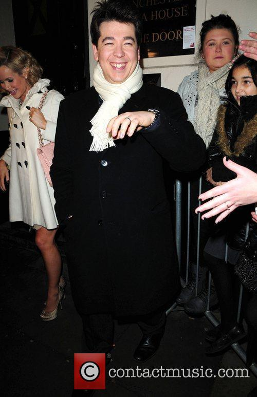 Michael Mcintyre returns to his hotel after judging...