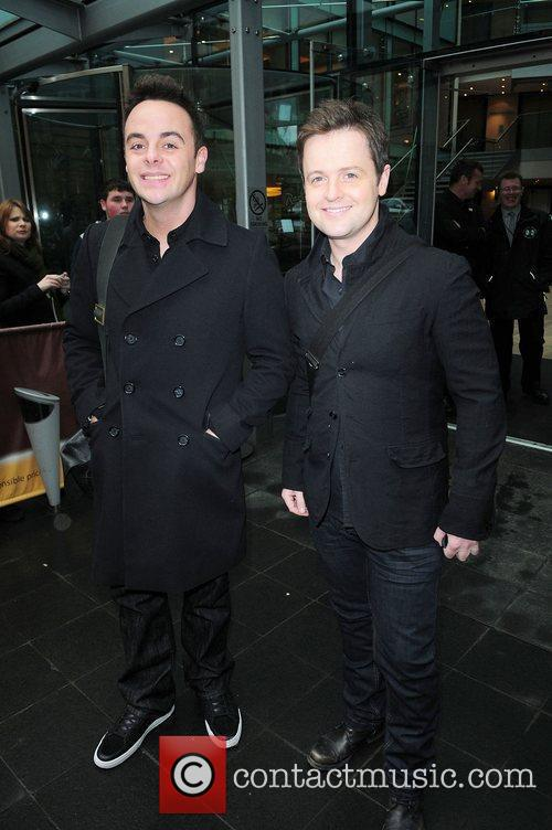 Anthony McPartlin and Declan Donnelly leaving their hotel...