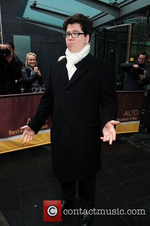 Michael McIntyre leaving his hotel to head to...