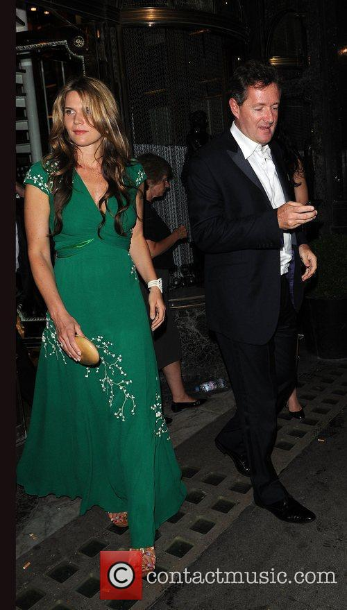 Piers Morgan and Celia Walden leave Mr Chows...