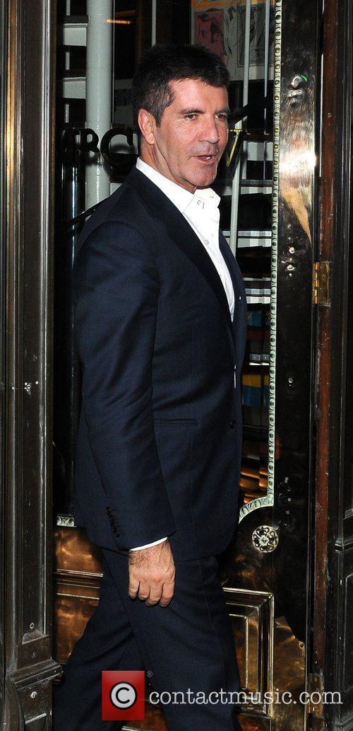 Simon Cowell leaves Mr Chows restaurant Lonson, England
