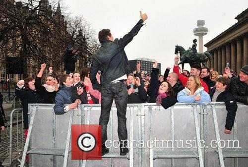 Arrives for the 'Britain's Got Talent' auditions