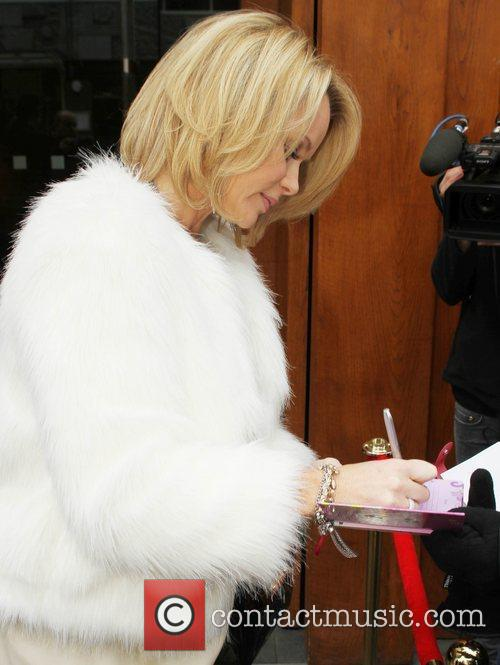 Amanda Holden leaving her hotel to head for...