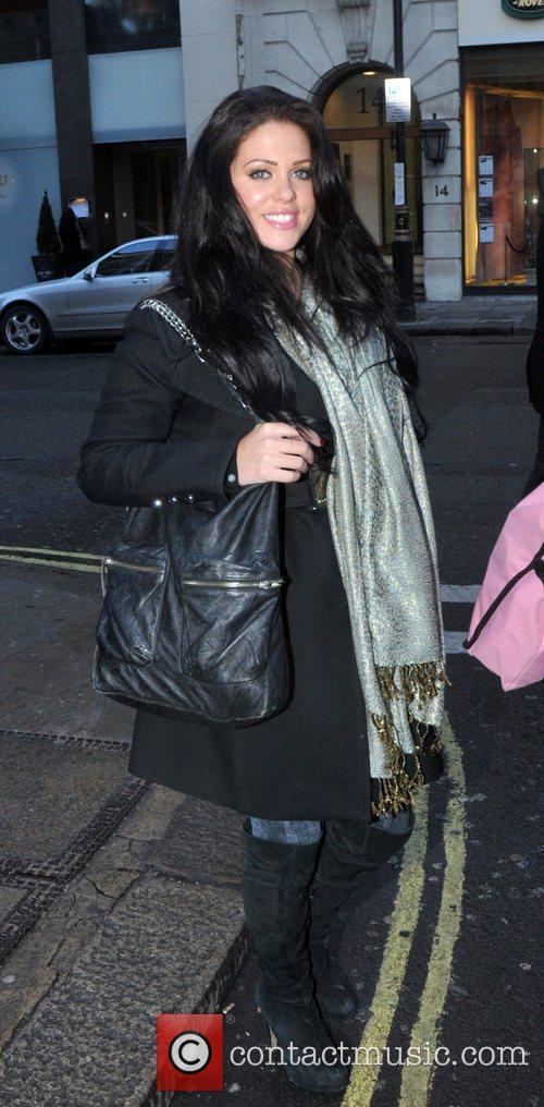Bianca Gascoigne leaving the May Fair hotel London,...