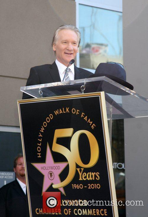 Bill Maher receives the 2,417th star on the...