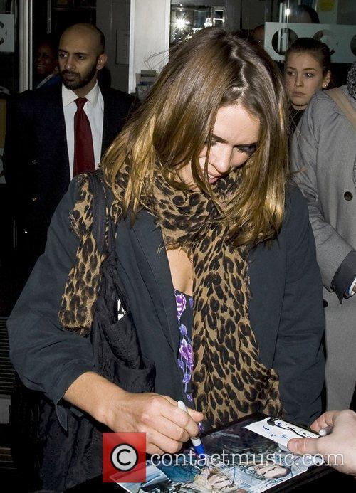 Billie Piper leaving the Radio One studios London,...