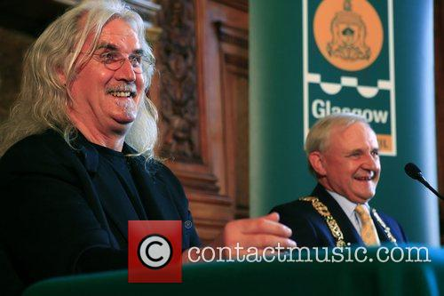 Billy Connolly at the City Chambers to receive...