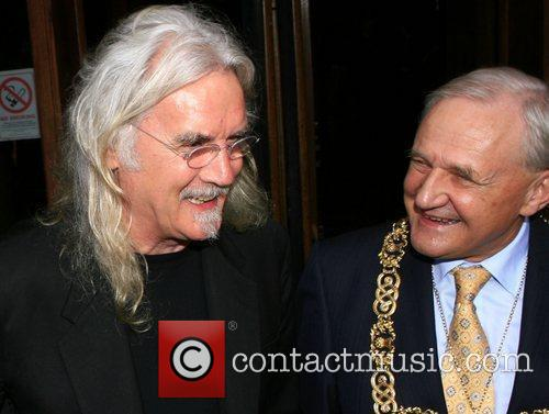 Billy Connolly, with Lord Provost Bob Winter, at...