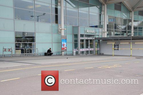 Birmingham International Airport - Exterior deserted as all...