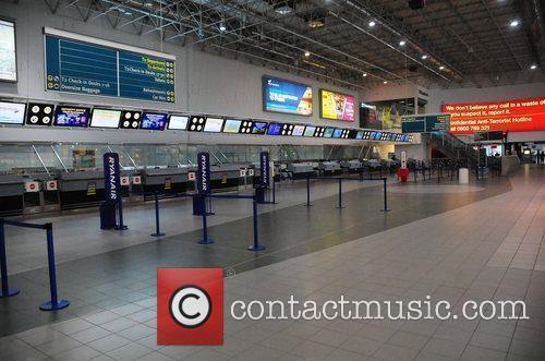 Birmingham International Airport - Interior  deserted as...