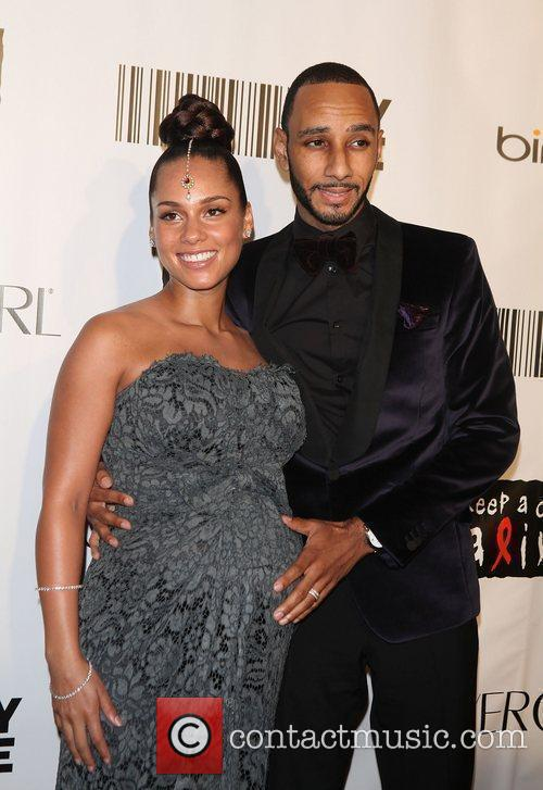 Alicia Keys, Black Ball and Swizz Beatz 4